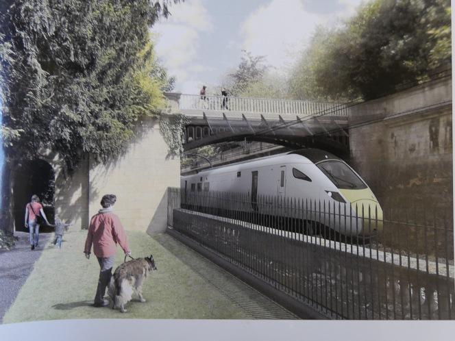 Rail reconstruction gets underway through Bath in2017.