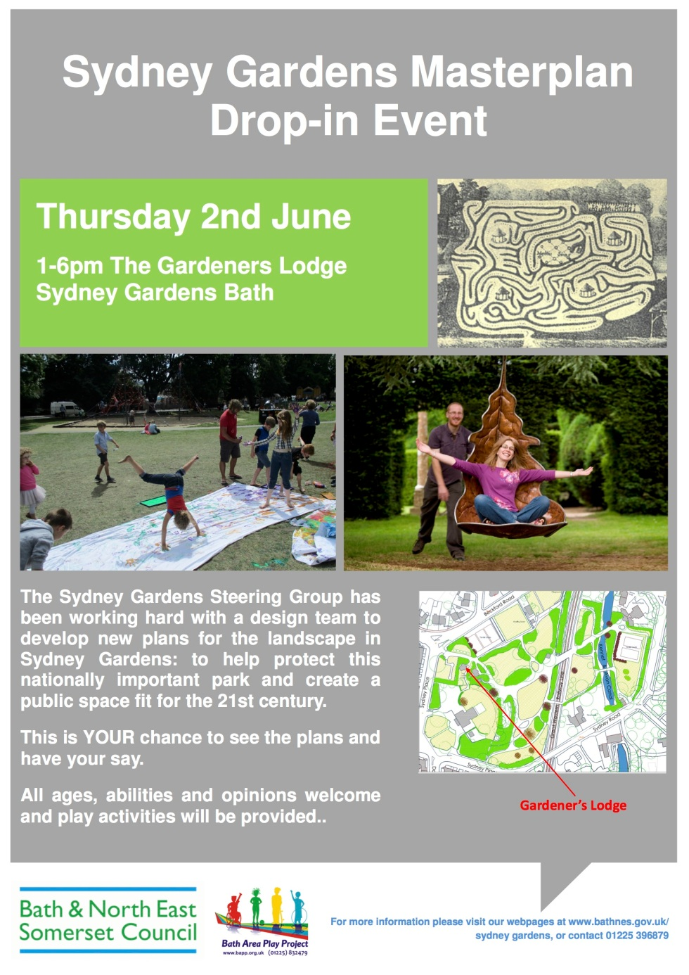 Sydney Gardens Masterplan consultation event 2nd June