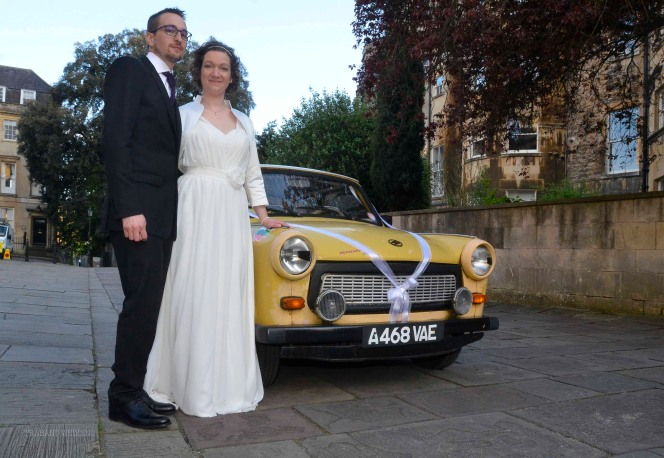 Wedding car with a difference.