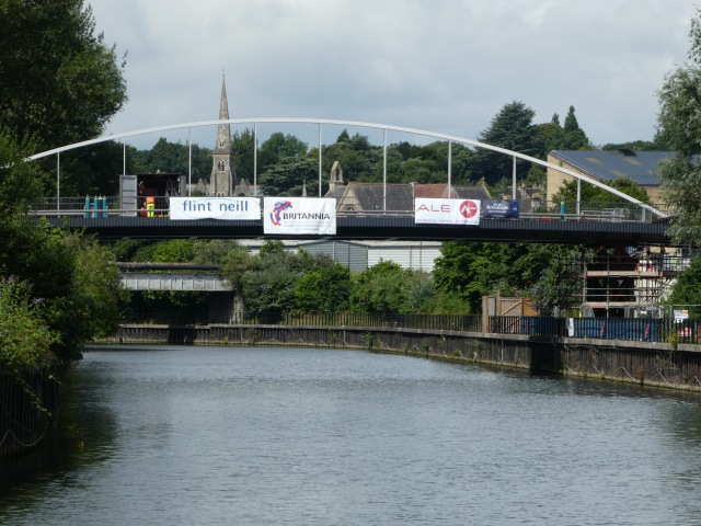 Finally - the new bridge is spanning the River Avon.