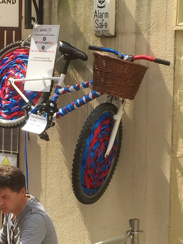 One of Bath's decorated bikes.