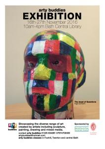 Bath library hosts arty buddiesexhibition