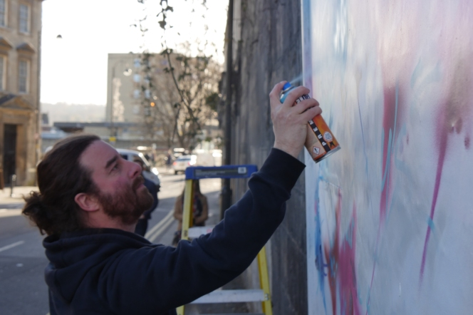 The last time l saw Paris – he was painting a mural in Walcot St.