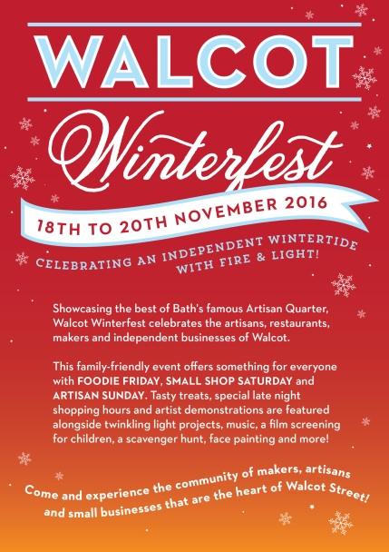 Walcot Winterfest A5 Leaflet