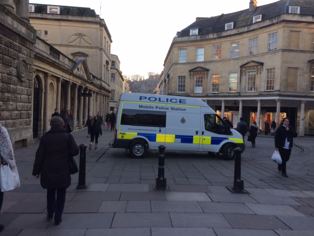 Bath's police station on wheels!