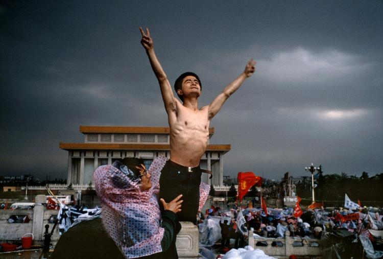 CHINA. Beijing. Tiananmen Square. 1989.
