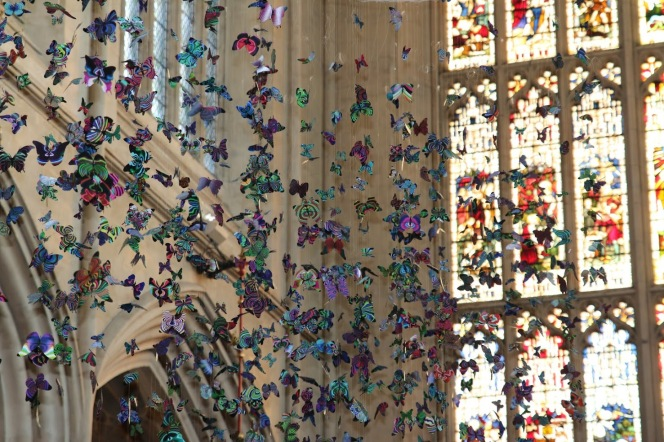 All of a flutter at the Abbey.