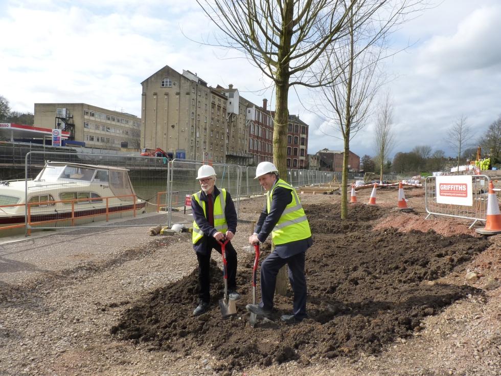 Bath Quays tree planting