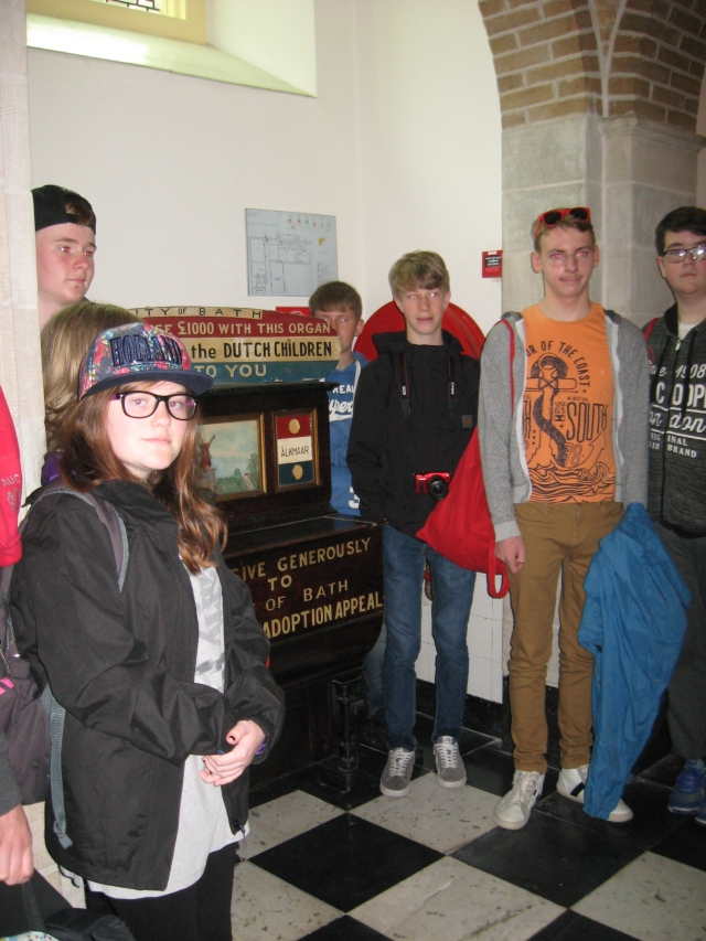 BCA pupils and Barrel piano