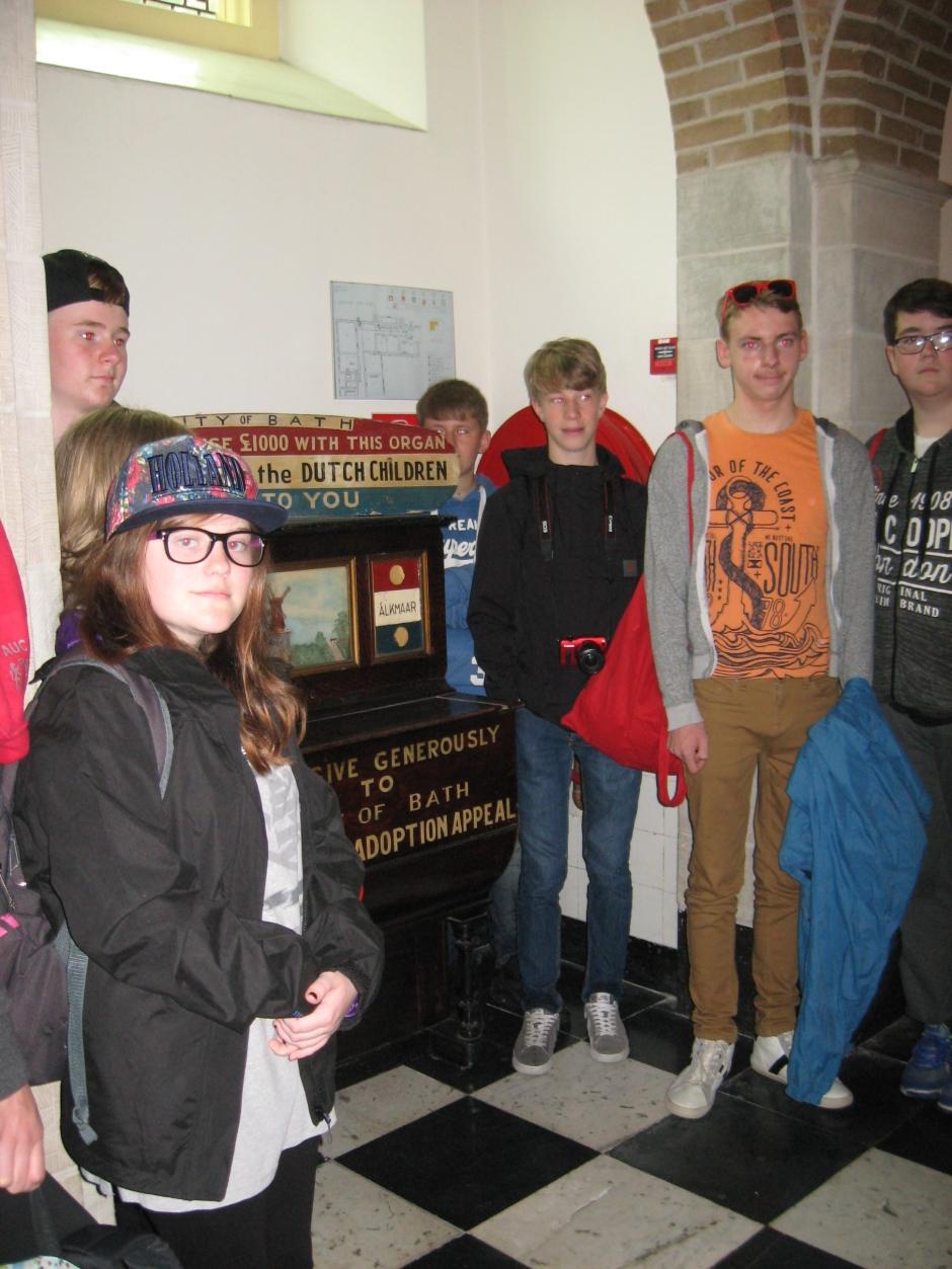 BCA pupils and Barrel piano
