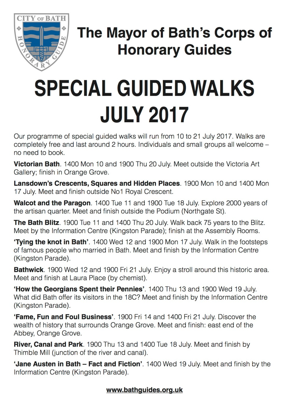 DP 5426 - Special Walking Tours Poster May 2017