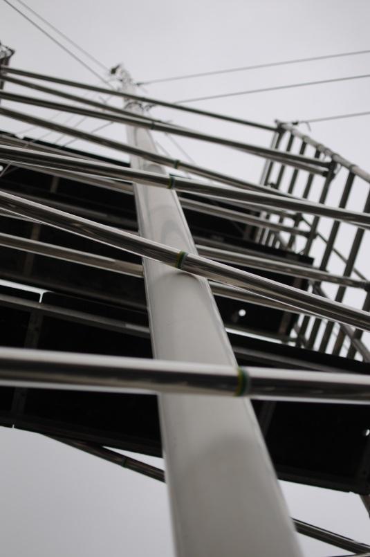 Scaffold Tower flag pole 11 July