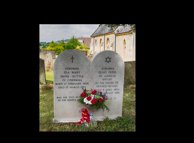 Eli and Ida memorial stone Bathford