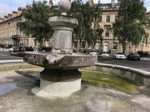 Bath's empty basin.