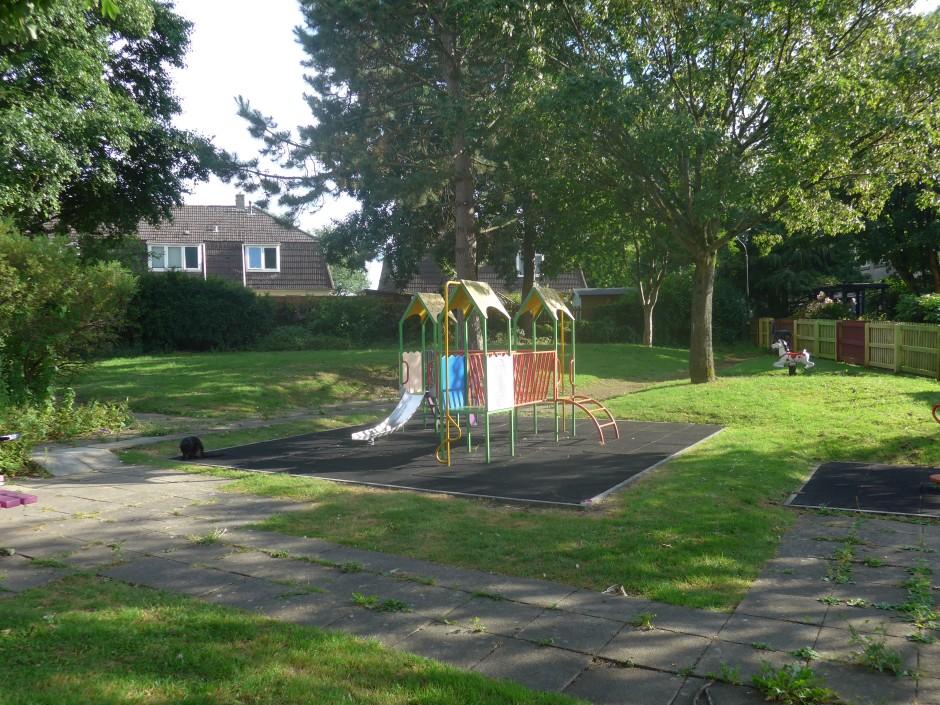 playground in demolition area