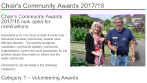 Nominations wanted for Community Awards