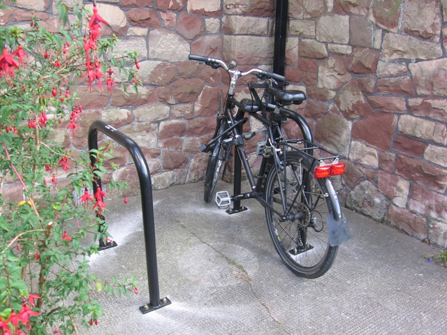 Bike parking at Abbots Leigh village hall2