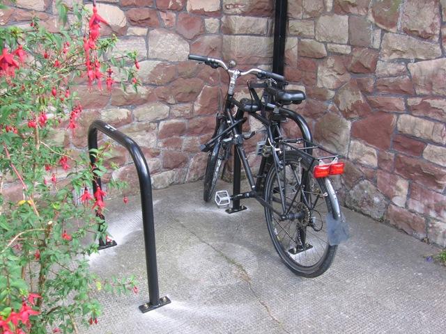 Bike parking at Abbots Leigh village hall2