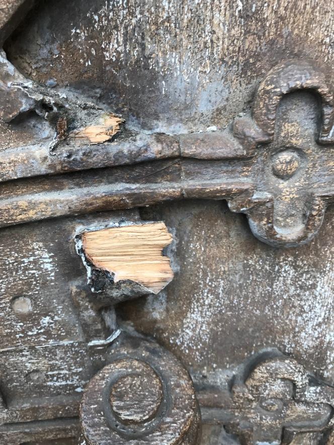 Abbey damage madegood.
