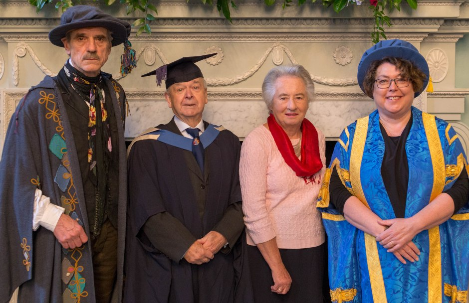 Image 3 - Jack and Audrey with Bath Spa's Chancellor Jeremy Irons and Vice-Chancellor Susan Rigby