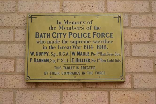 When Bath 'bobbies' went towar.