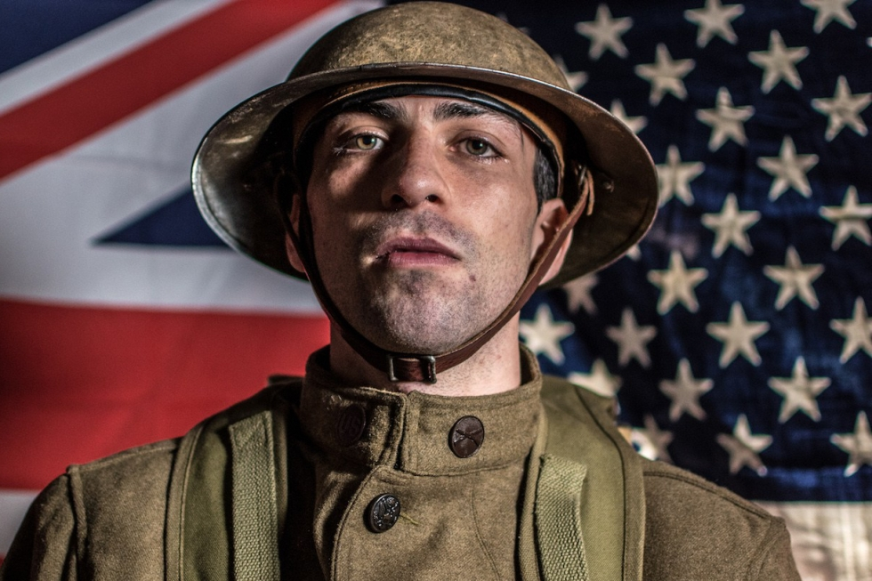 Living history WW1 soldier 4 - American Museum Side By Side Exhibtition - Peter Hall