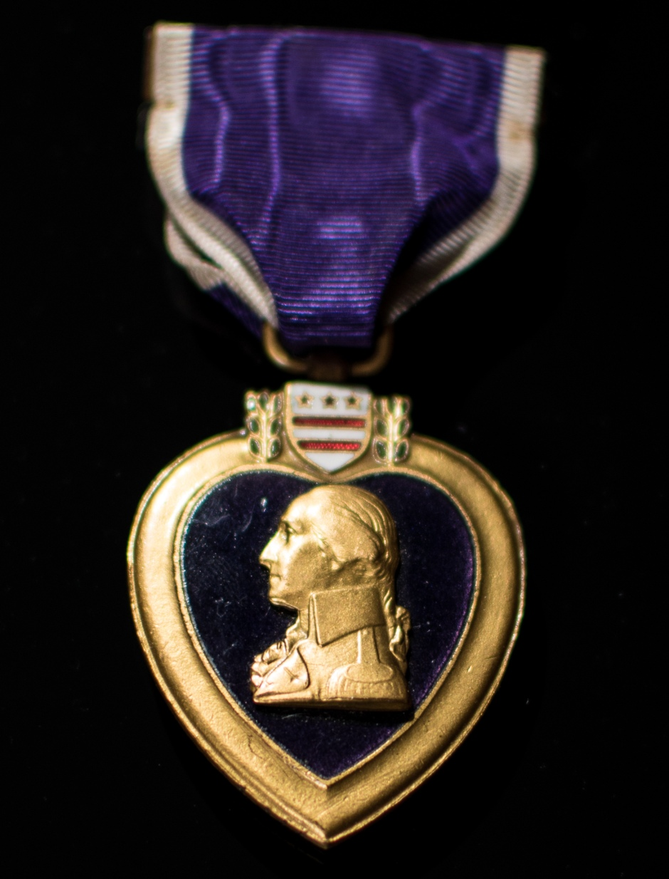 Purple Heart medal 4 - American Museum Side By Side Exhibtition - Peter Hall