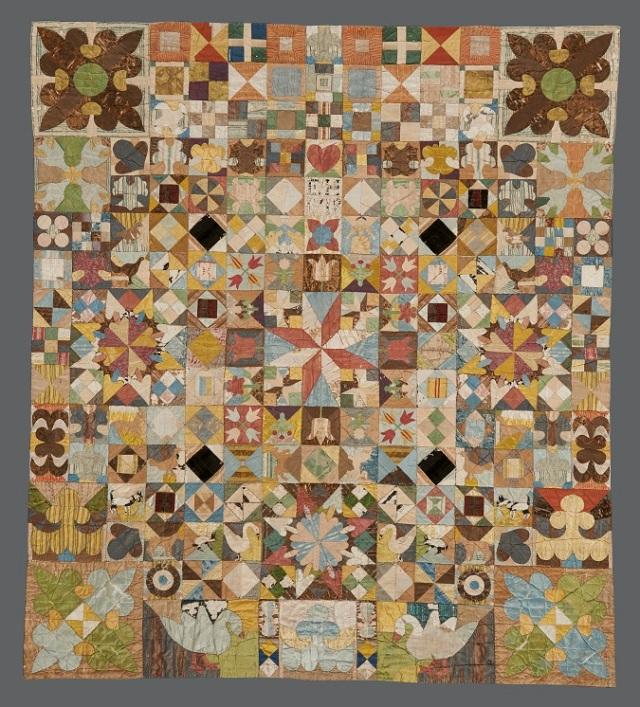1718 Patchwork coverlet. American Museum in Britain (1)