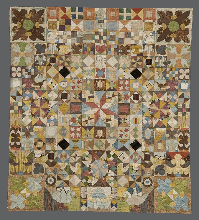 1718 Patchwork coverlet. American Museum in Britain (1)
