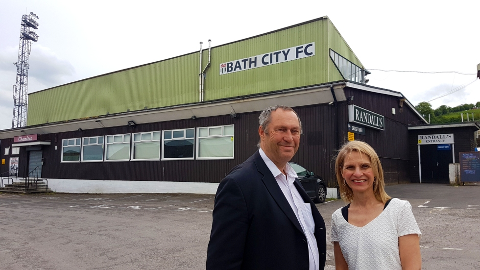 Tim Ball and Wera at Bath City FC