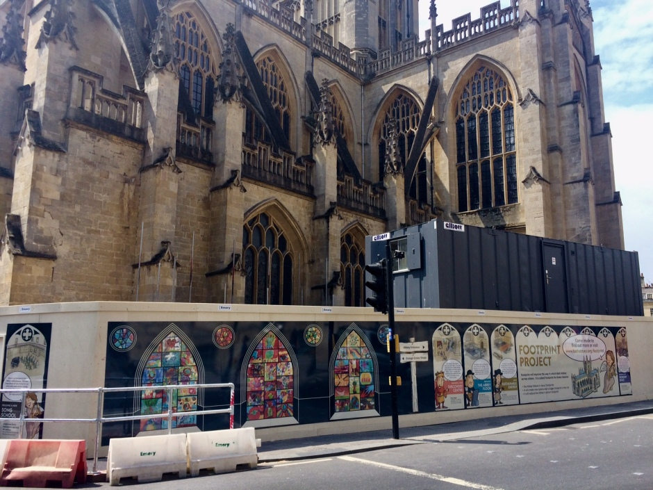 Bath Abbey - External hoardings