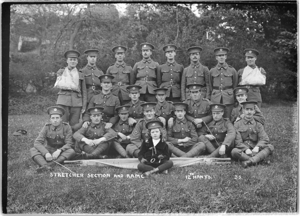 Stretcher Section and RAMC - 12th Hants. Rgt