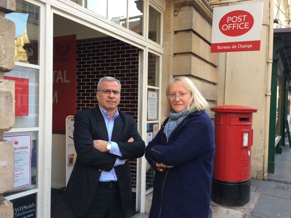 Andrew Furse and Manda Rigby, Bath Crown Post Office (22.11.18)