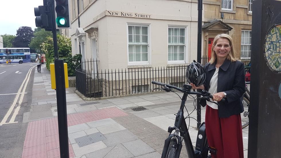 Wera with her electric bike