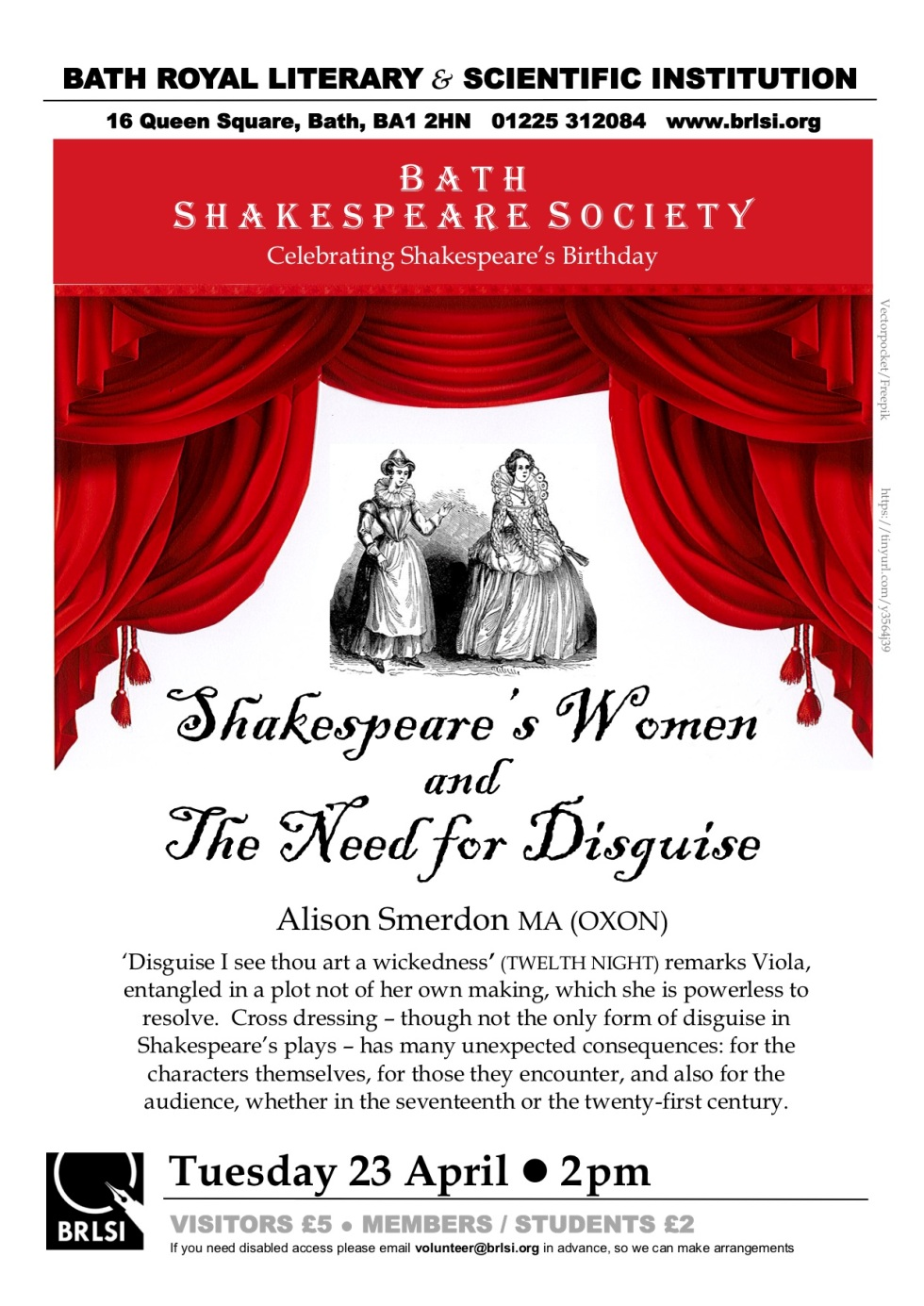 Poster-Shakespeare-Women-[3]- 23 Apr 2019