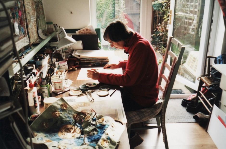 Sue Symons in her studio