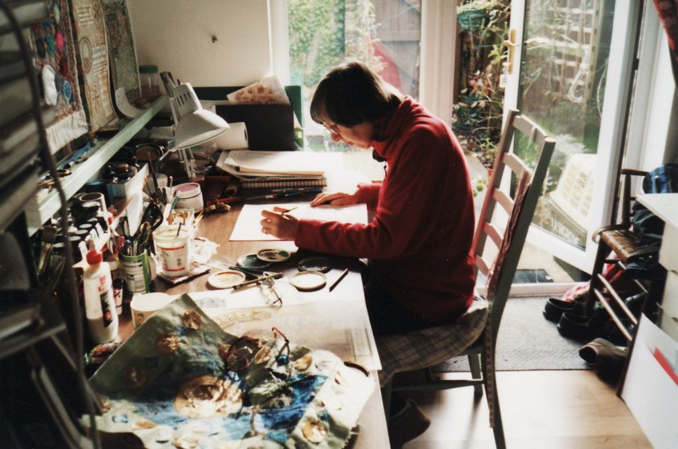 Sue Symons in her studio