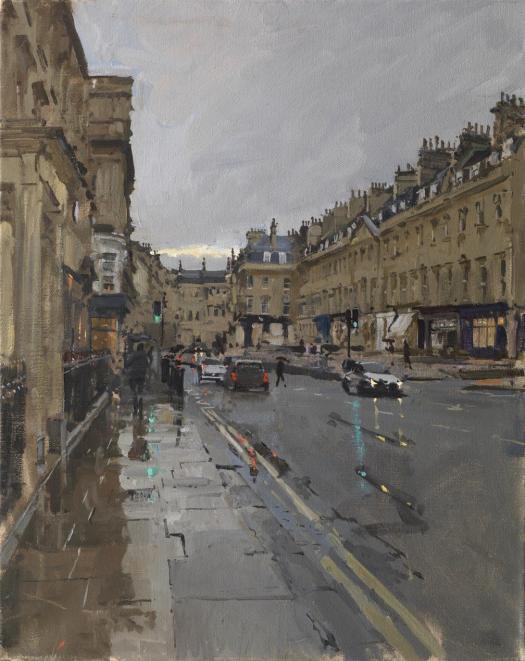 Peter Brown, George Street, Rain