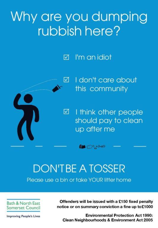 Don t be a tosser jpg
